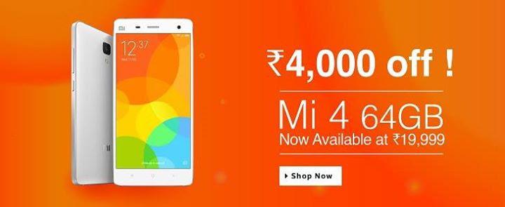 Xiaomi Mi4 64gb Flipkart