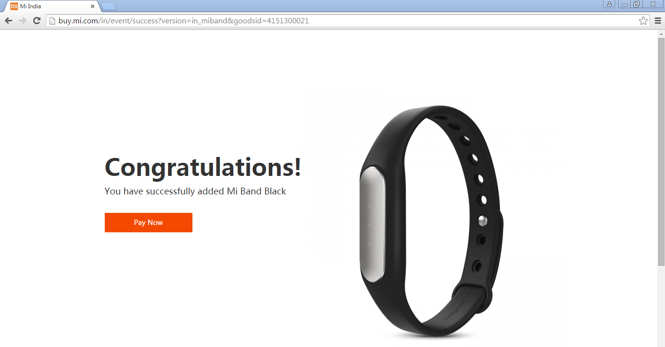 MiBand_Congratulations_order_confirm_page