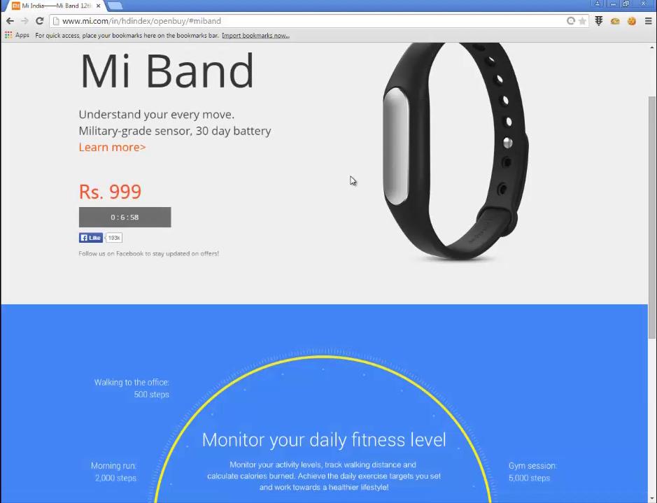 MiBand_Timer_Page
