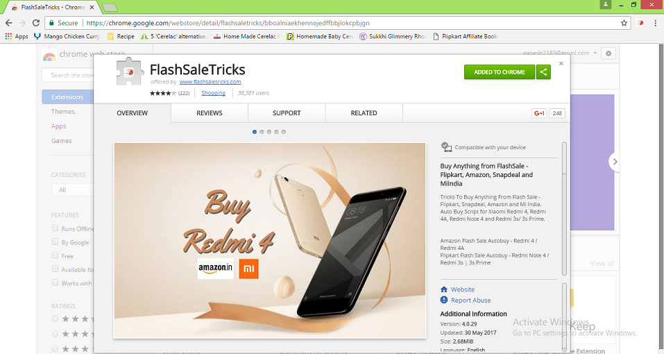 Auto buy Chrome extension for Flash sale - FlashSaleTricks