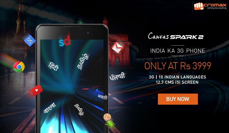 buy micromax canvas spark 2