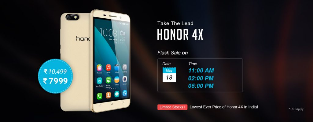 Honor4x_18May_sale