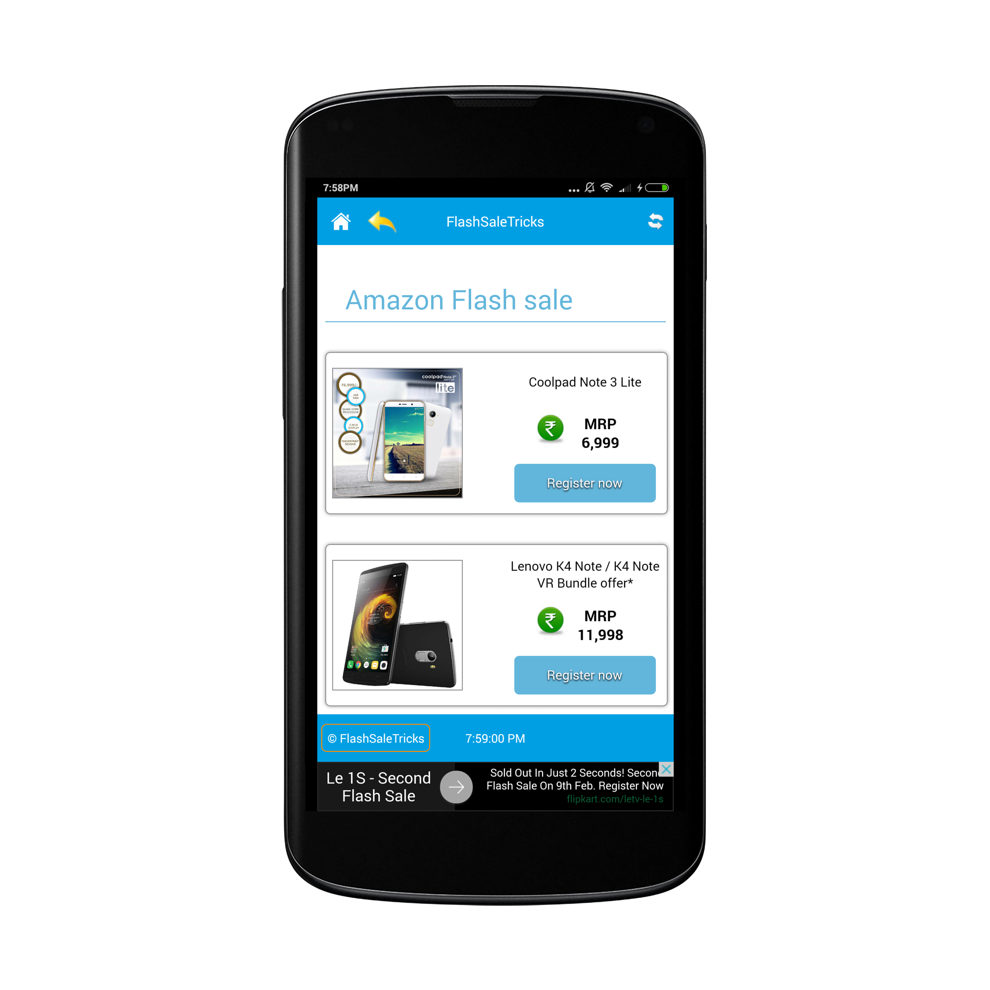 FlashSaleTricks Autobuy Android App for flash sale - FlashSaleTricks