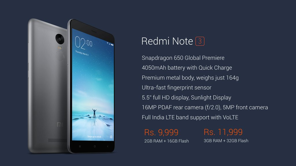 Buy Redmi Note 3 Amazon Flash Sale