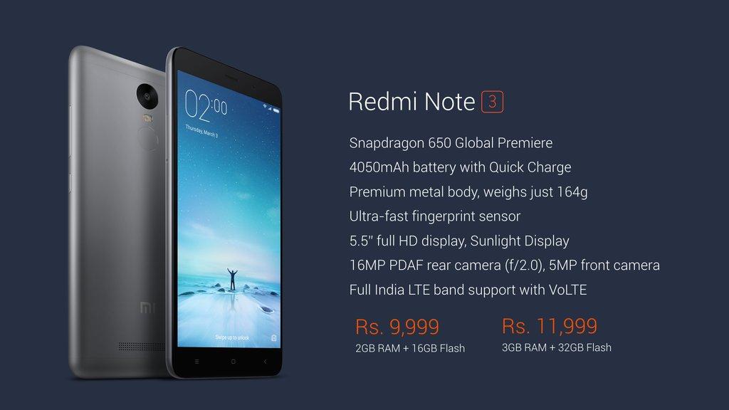 Buy Redmi Note 3 Amazon Flash Sale
