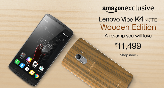 LenovoK4Note_WoodenEdition_sale_amazon_14July