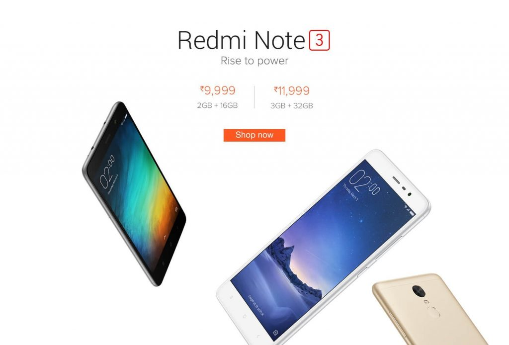 Buy Redmi Note 3 Flipkart