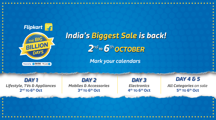 Flipkart Big Billion Dat 2016 Date