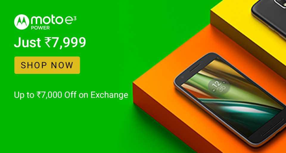 buy popular 73ce3 a58b8 Buy Moto E3 Power for Just Rs.7,999 from Flipkart - FlashSaleTricks