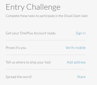 OnePlus Diwali Dash Entry Challenge