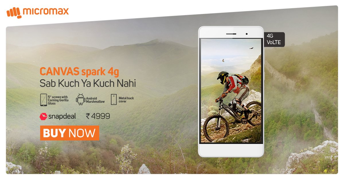 micromax_canvas_spark4g_snapdeal_10nov_sale