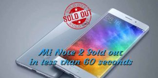 Mi Note 2 flash sale