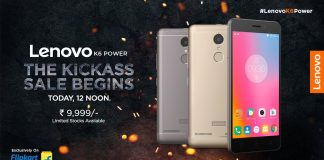 lenovok6power_today_12noon_flipkart