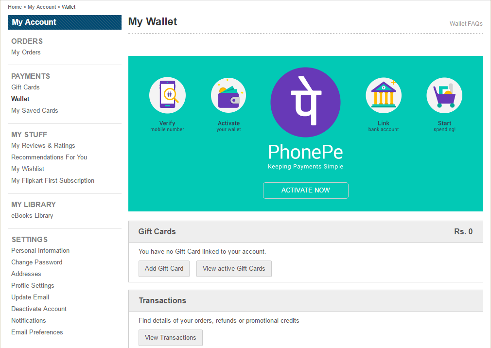 How to Activate PhonePe Wallet on Flipkart - FlashSaleTricks