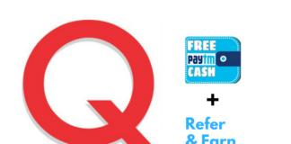 qzaap free paytm cash offer