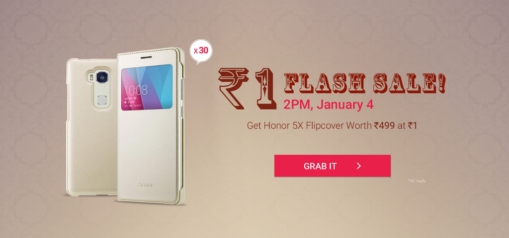 Honor_5x_Flipcover_Flash_sale_today_04Jan