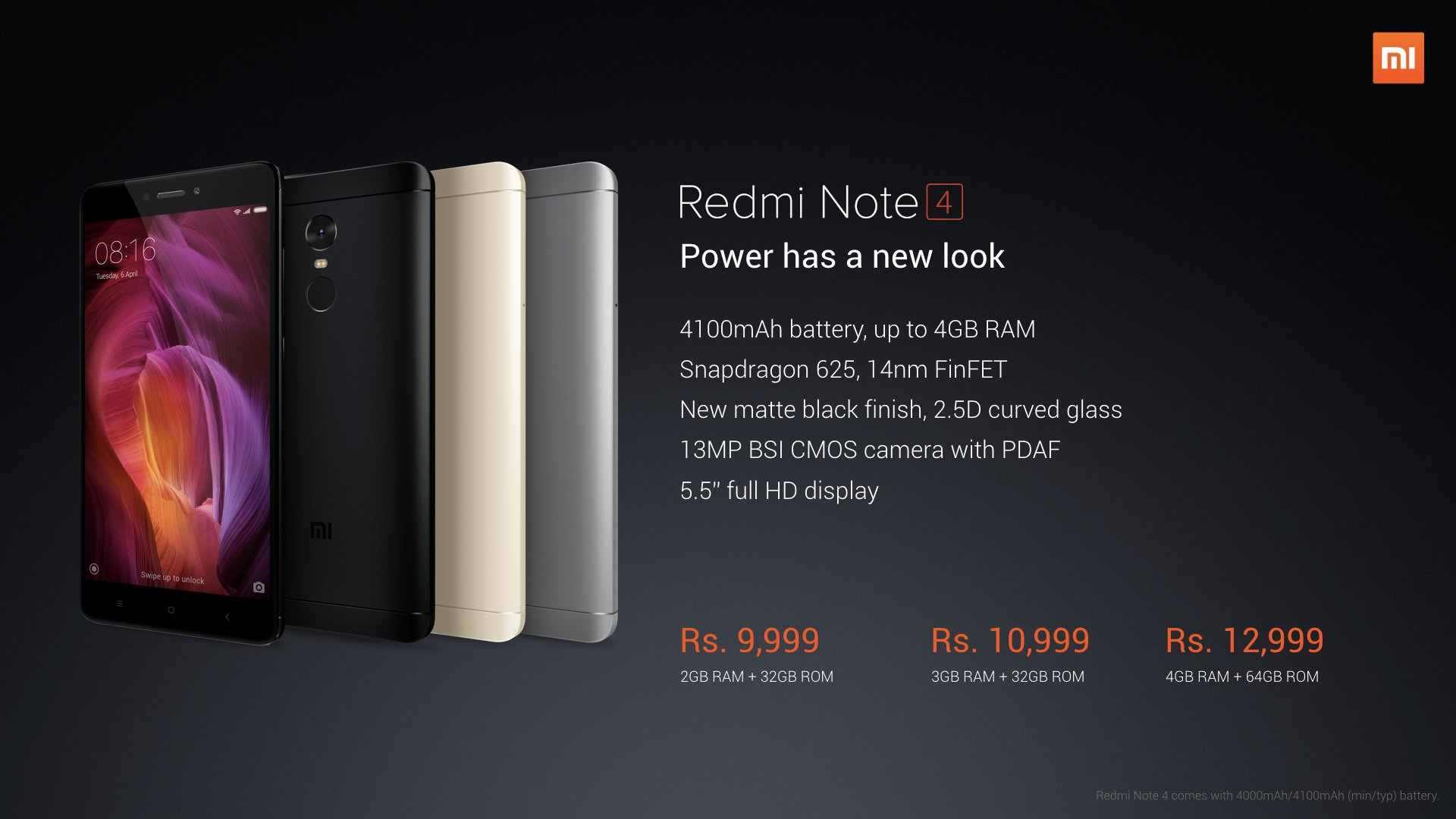 RedmiNote4_Specification