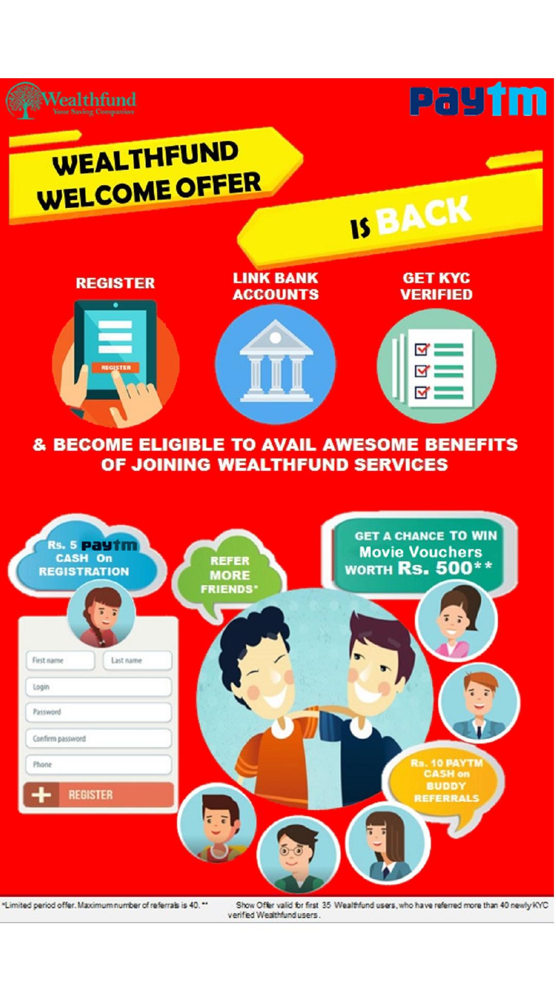Wealthfund_loot_Paytm_Cash_Signup_Refer_Earn