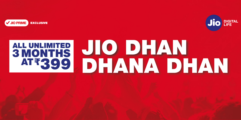 Jio Dhan Dhan Offer | 3 Months Unlimited at Rs.399