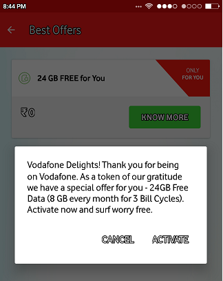 My Vodafone App | Get 24GB Free Data for 3 Month (For