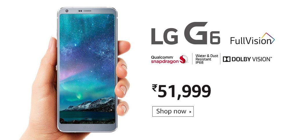 Buy LG G6 from Amazon India