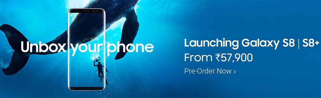 Pre-Order Samsung Galaxy S8 | S8 Plus from Flipkart