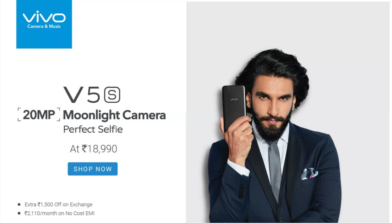 Buy now Vivo V5s from Flipkart
