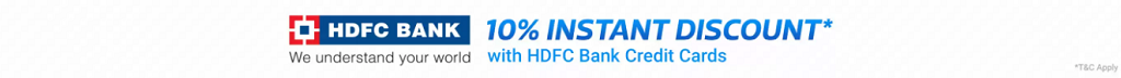 Flipkart Big 10 Sale (14-18 May) | 10% Instant Discount on HDFC Bank Credit Cards