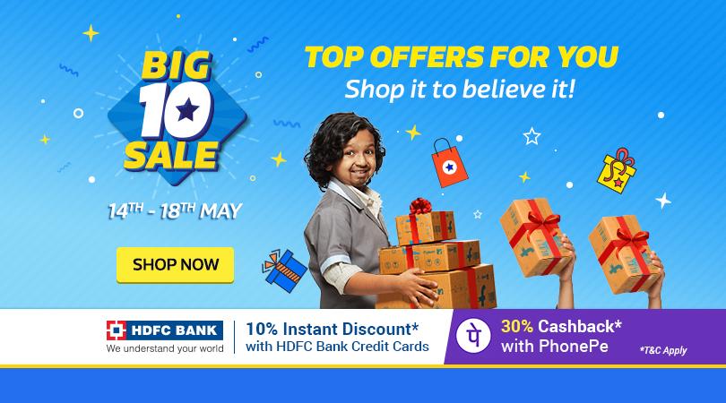 Flipkart Big 10 Sale (14-18 May)
