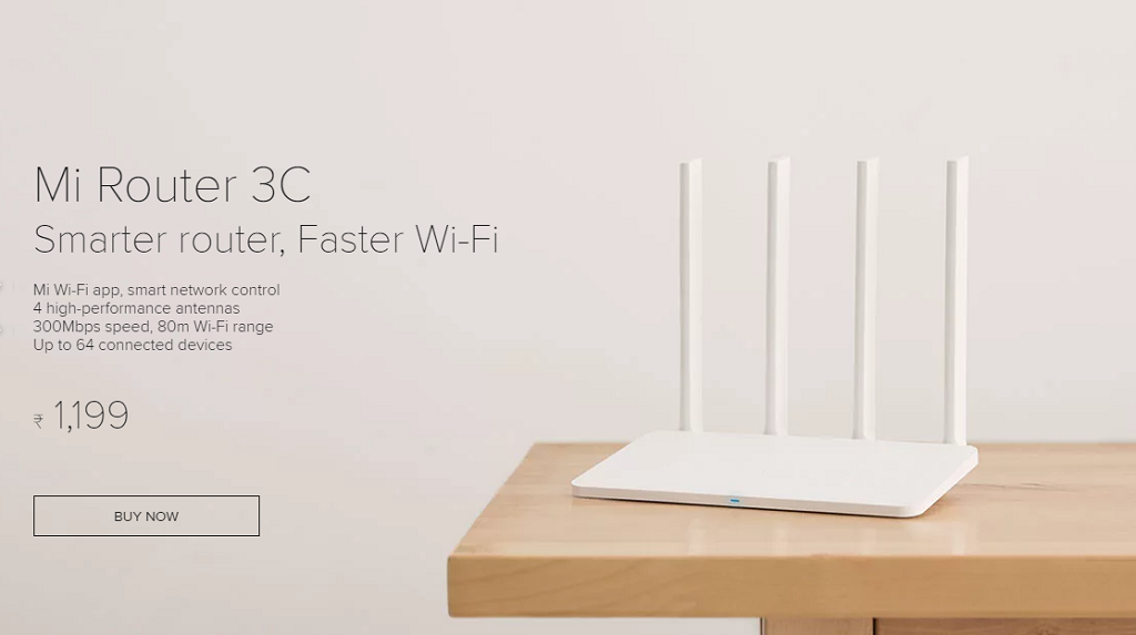 Buy Mi Router 3C from Mi India