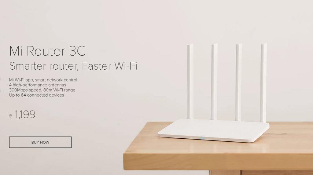 Buy Mi Router 3C from Mi India