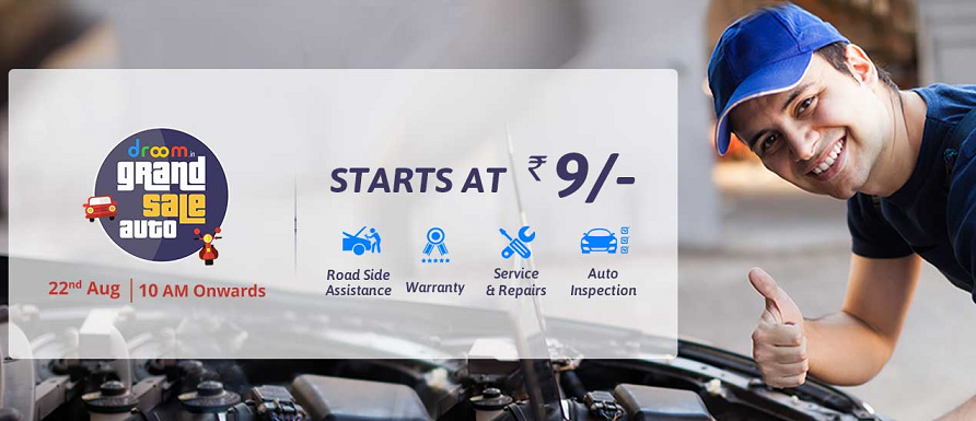 Droom Grand Sale Auto | Get Auto Services at Rs.9