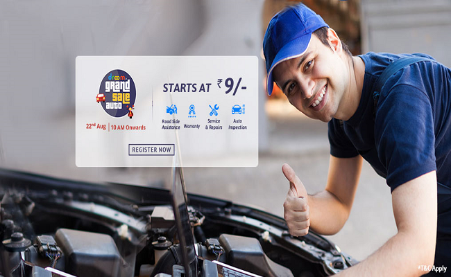 Get Auto Services At Just Rs.9