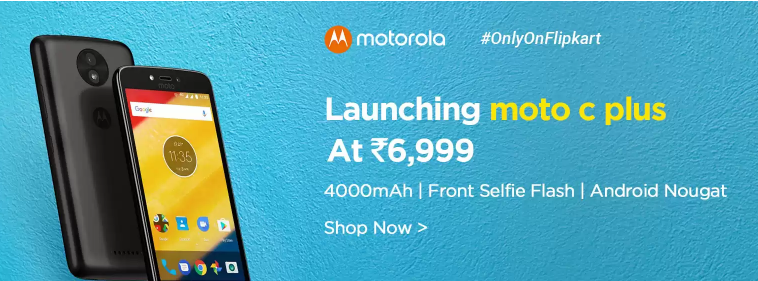 Buy Moto C Plus from Flipkart