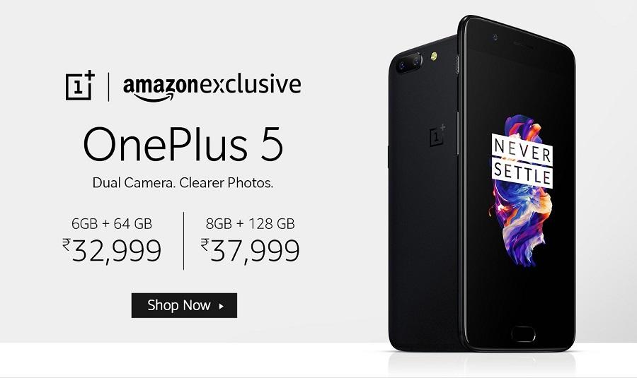 Buy OnePlus 5 from Amazon India