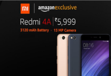 Buy Redmi 4A starting at Rs.5,999 from Amazon India