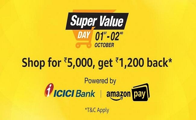 Amazon Super Value Day | Upto Rs.1,200 Cashback*