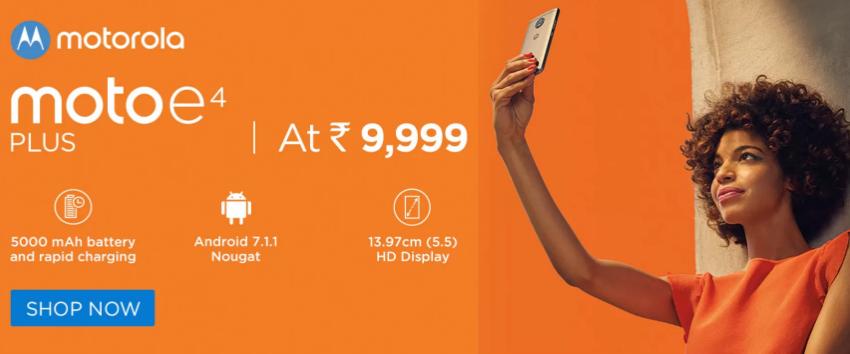Buy Moto E4 Plus from Flipkart