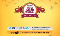 Amazon Great Indian Festival (14-17 Oct)   10% Cashback on SBI Cards
