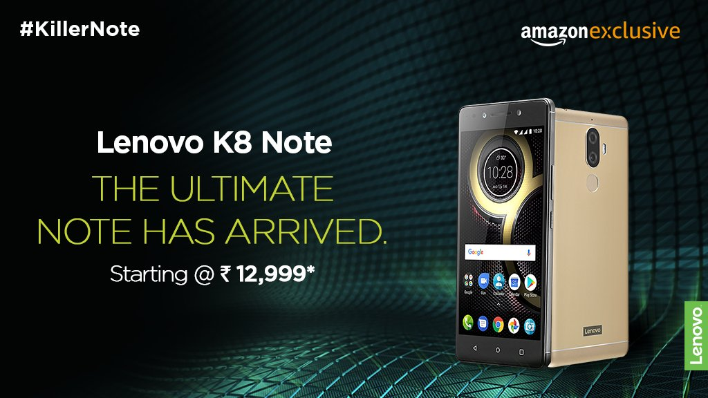 Buy Lenovo K8 Note from Amazon India
