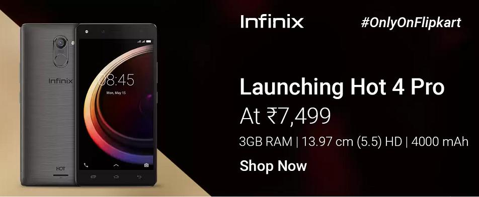 Buy Infinix Hot 4 Pro from Flipkart