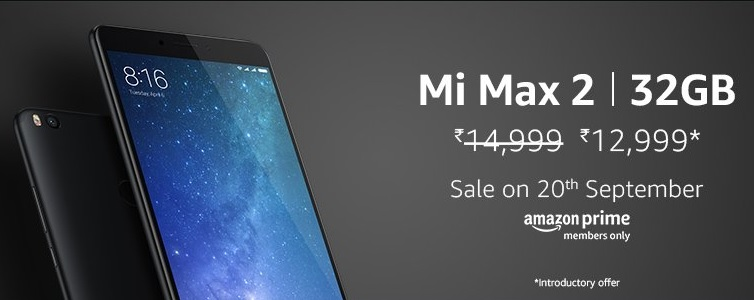 Buy Mi Max 2 (4GB+32GB) at Rs.12,999