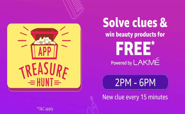 Amazon App Treasure Hunt | Win Beauty Products