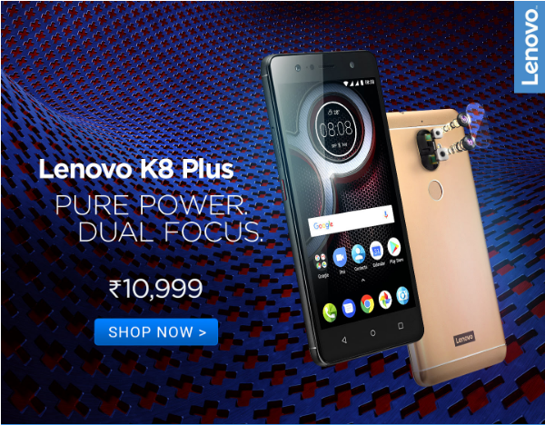 Buy Lenovo K8 Plus from Flipkart