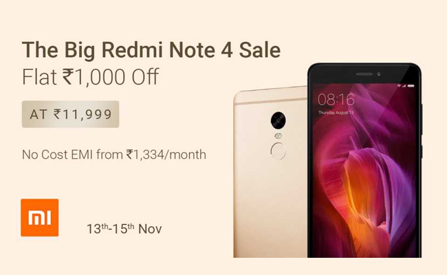 Buy Redmi Note 4 from Flipkart