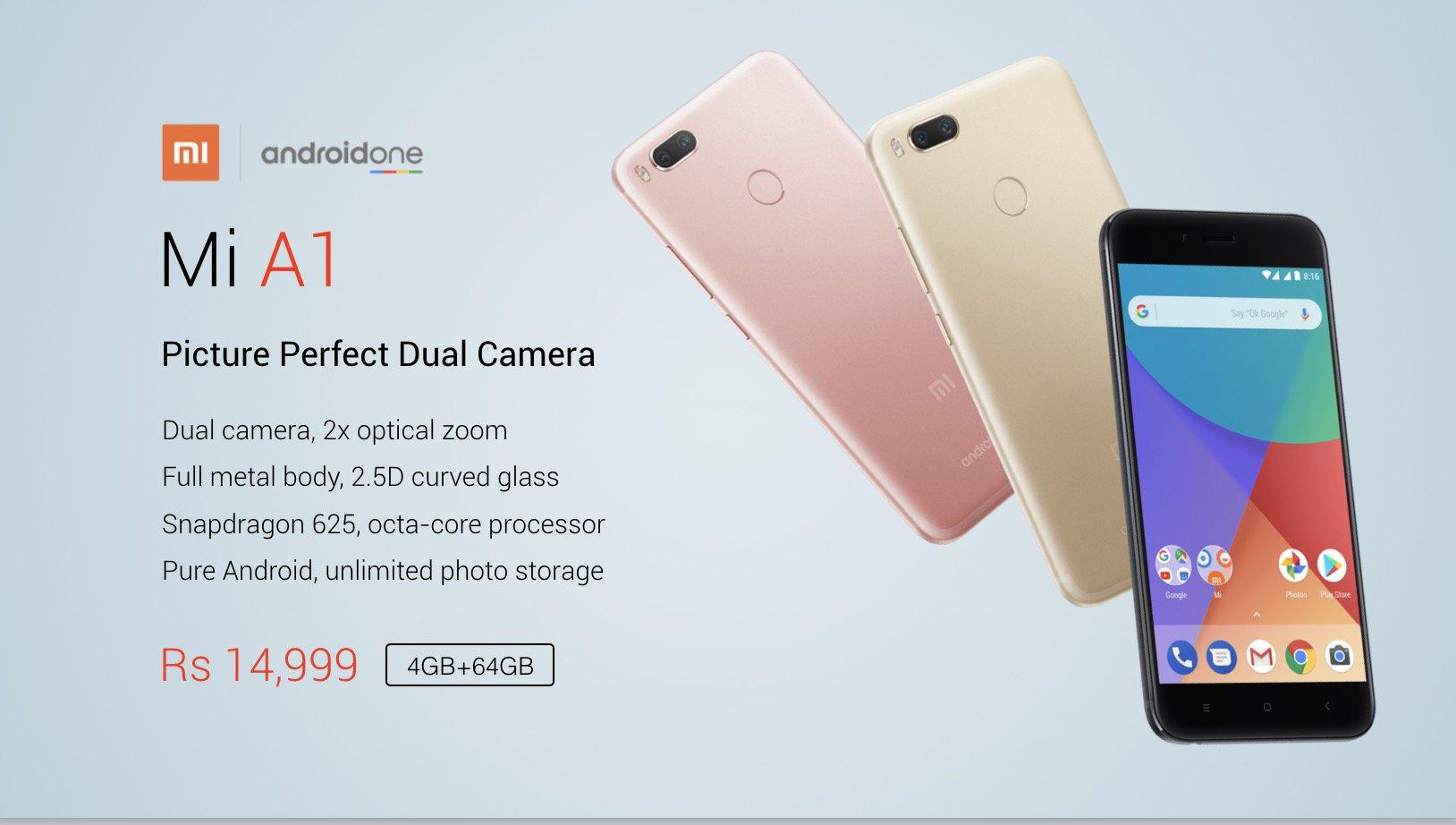 Buy Xiaomi Mi A1 For Rs 14 999 From Flipkart Flashsaletricks