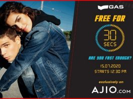 Ajio Flash Sale | Gas Free for 30 Seconds