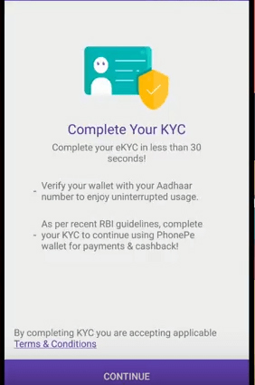 PhonePe Offer | Get Rs  25 Cashback on Completing KYC