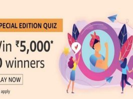 Amazon Special Edition Quiz 08 March 2019 | Answer & Win 5000 Pay Balance