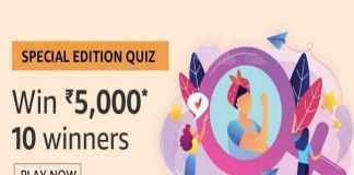 Amazon Quiz Time 11 Nov 2019 | Answer & Win 5000 Pay Balance